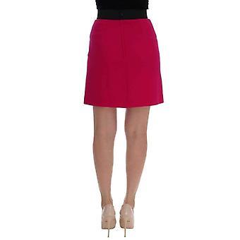 Dolce & Gabbana Pink Carretto Crystal Wool Skirt -- SKI1526448