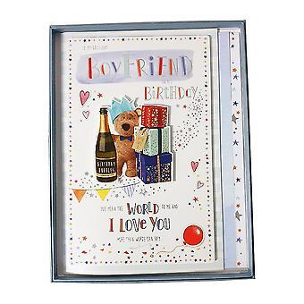 ICG Ltd To My Brilliant Boyfriend On His Birthday Boxed Large Card