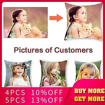 Aanpassing Foto Gedrukte Kussen Cover Pet Personal Life Foto's Pillow Cover Gift Pillow Case