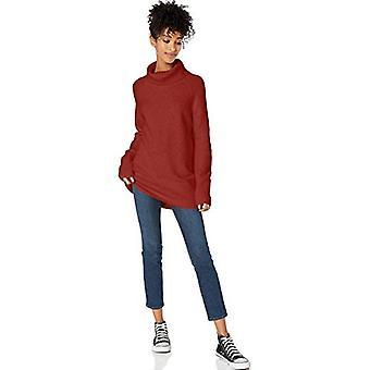 Brand - Goodthreads Women's Boucle Turtleneck Sweater, Rust Heather, M...