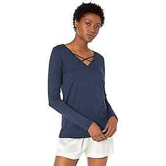 Brand - Mae Women's Cotton Modal Opli Lounge T-Shirt, Navy, Medium