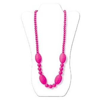 Ellisse Silicone Teething Necklace - Bumkin - Pink New SJE-PNK