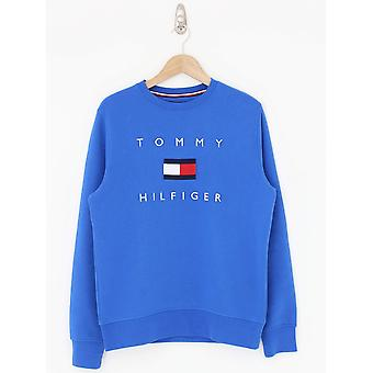 Tommy Hilfiger Tommy Flag Crew Sweat - Electric