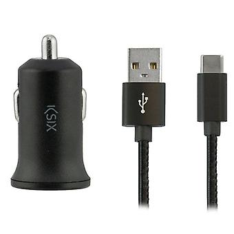Wall Charger + USB Micro Cable KSIX 2A Black