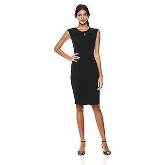 Lark & Ro Women's  Sleeveless Twist Neck Knot Sheath Dress, Black, 12