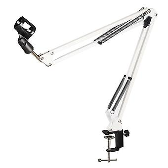 Extendable Recording Microphone Holder Suspension Boom Scissor Arm Stand Holder With Microphone Clip Table Mounting Clamp