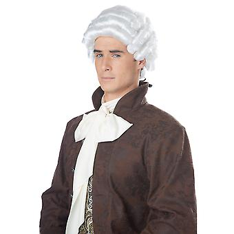 Colonial Man Judge Lawyer Barrister George Washington Mens Costume Wig