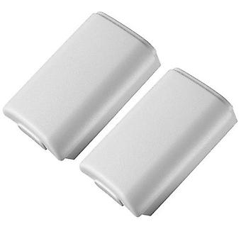 Zedlabz battery holder shell cover for microsoft xbox 360 wireless controllers - 2 pack white