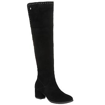 Carmela Womens Over the Knee Leather Boot