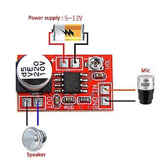 Dc 5v-12v Micro electret erősítő mikrofonkondenzátor Mini