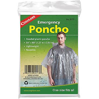 Coghlan's Emergency Poncho w/ Hood, Reusable & Lightweight, Survival Emergency