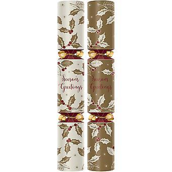 "Swantex Seasons Greetings Christmas Crackers 12"""