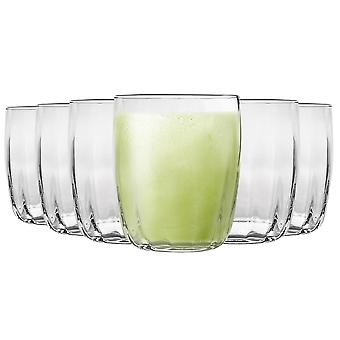 Bormioli Rocco Incontri Ridged Tumbler Glasses Set - 300ml - Pack of 12