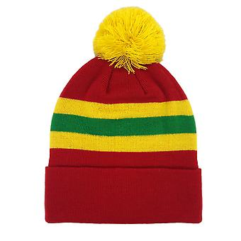 fan originals Retro Football Bobble Hat in Wales Colours Red Yellow Green