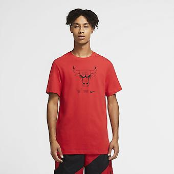Nike Nba Chicago Bulls Dri-fit T-shirt Rot