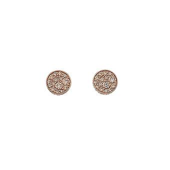Emozioni Loyalty Champagne Rose Gold Plated Earrings EE012