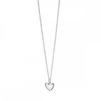 Beginnings Sterling Silver Small Solid Puffed Heart Necklaces N3761