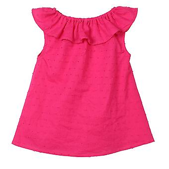 Baby Girl T-shirty, Lotus Leaf Collar O-neck, Bluzka top