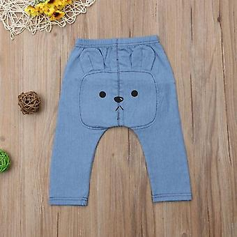 Baby Denim Pants Animal Print Long Trousers Bottoms Kids Trousers Pant Baby