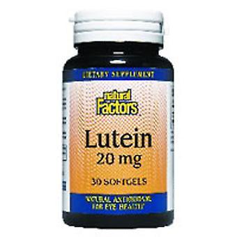 Luonnolliset tekijät Luteiini, 20 mg, 120 Softgels