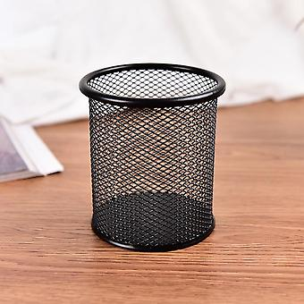 Metal Stand Mesh Style Pen Pencil Ruler Holder - Desk Organizer Storage