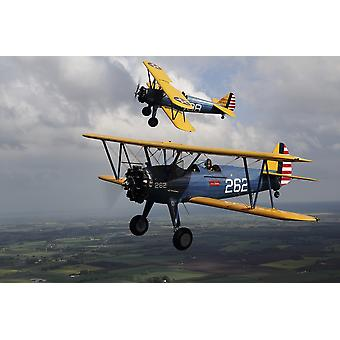 Sebbarp Sweden - Boeing Stearman Model 75 Kaydet in US Army colors Poster Print