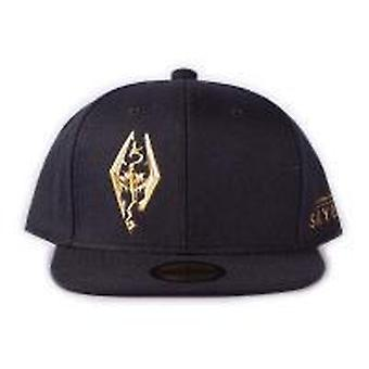 The Elder Scrolls Skyrim Dragon Logo Snapback Baseball Cap Unisex Black
