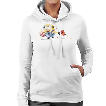 Despicable Me Bob The Minion Teddy Bear Popcorn Women's Hooded Sweatshirt