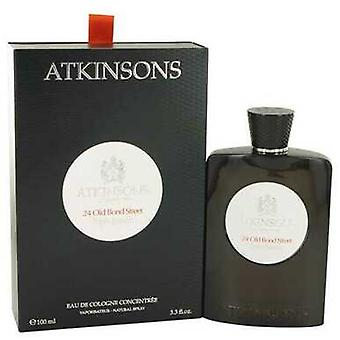24 Old Bond Street Triple Extract By Atkinsons Eau De Cologne Concentree Spray 3.3 Oz (men) V728-529909