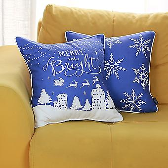 سعيد ومشرق عيد الميلاد رمي وسادة غطاء