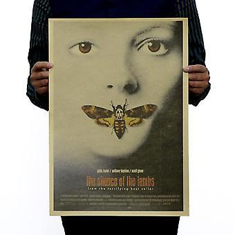 Die Stille der Lämmer Vintage Kraft Papier klassischen Filmplakat