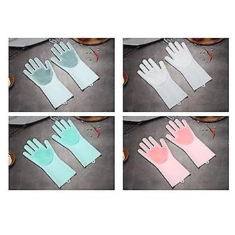 Multifunction Silicone Cleaning Gloves, Magic Silicone Dish Washing Gloves