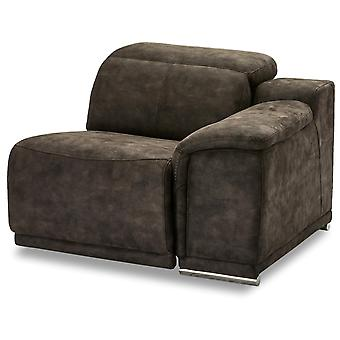 Ibbe Design Alexa 1 Seater Arm Right Brown Fabric No Function, 105x102x73 cm