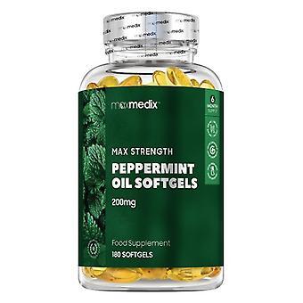 Maxmedix Peppermint Oil Softgels - 180 Softgels - Natural Supplement to Eliminate Bad Breath