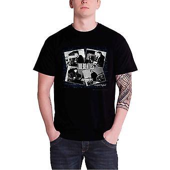 البيتلز تي شيرت يعيش في كهف ليفربول الفرقة شعار الرسمية الرجال الجديدة
