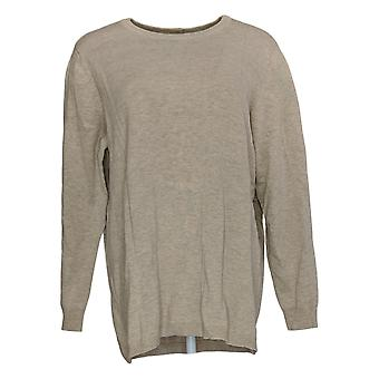 Joan Rivers Classics Collection Women's Sweater Back Button Beige A309635