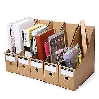Laatikko Kraft Paper Magazine File Holder Organizer Box