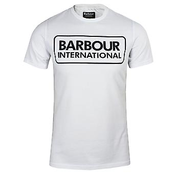 Barbour international men's large logo white t-shirt