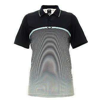 Oakley Mens Golf Polo Shirt Ellipse Stripe T-Shirt 434218 10R