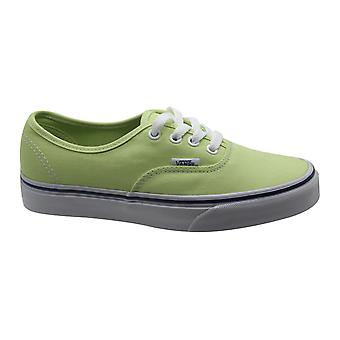 Vans Off The Wall Low Authentic Lime White Lace Up Unisex Trainers ZUKFSN B83C
