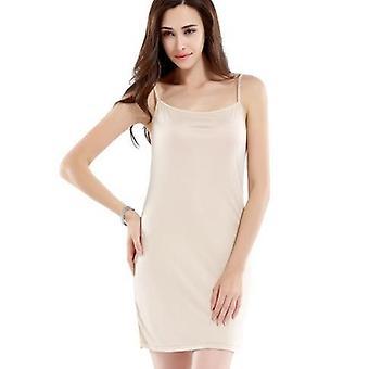Women Silk Full Slips Healthy Underdress Anti Emptied Intimates