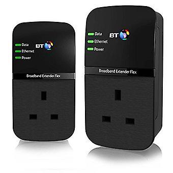 Bt broadband extender flex 500 kit, pass through powerline adapters - twin pack