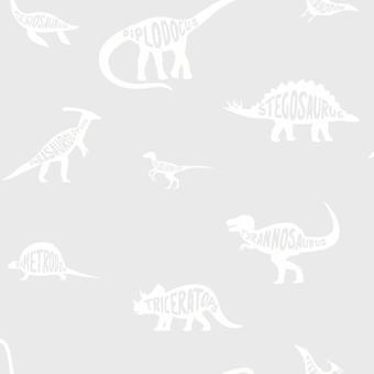 Dino Dictionary Grey Wallpaper