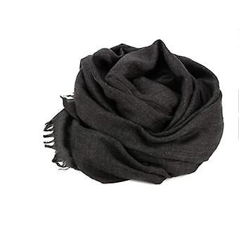Bufanda 180x100 cm algodón/lino gris oscuro
