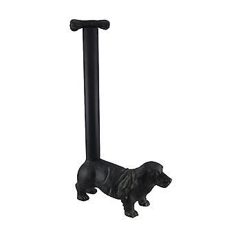 Cast Iron Teckel Dog Paper Handdoek Houder