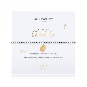 Joma Jewellery A Little Chocoholic Silver 17.5cm Stretch Bracelet 3474