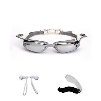 Óculos profissionais impermeáveis Hd Anti-neblina Uv Óculos de Silicone Eletroplate