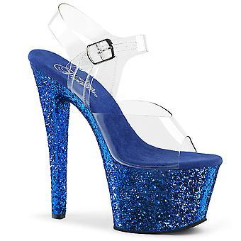 בבקשה נשים&נעליים SKY-308LG Clr / נצנצים כחולים