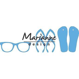 Marianne Design Creatables Schneidedies - Flip Flops & Sonnenbrille LR0477 8.0x18.5cm