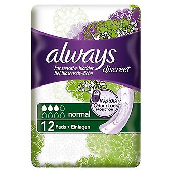 Always Discreet Pads Normal 12's x3 (54204)